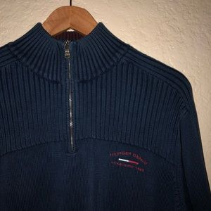 VTG Tommy Hilfiger 1/4 Zip Sweater